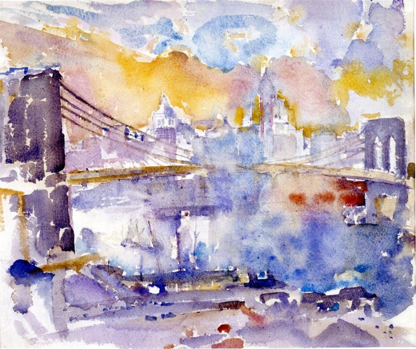 Brooklyn Bridge, John Marin, 1912